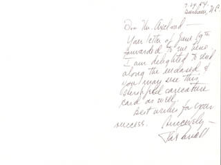 PAT CARROLL - AUTOGRAPH LETTER SIGNED 07/29/1984