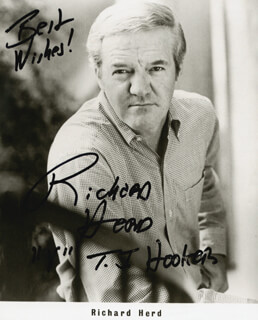 RICHARD HERD - PRINTED PHOTOGRAPH SIGNED IN INK