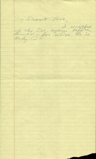 Autographs: HOWARD HUGHES - AUTOGRAPH NOTE UNSIGNED