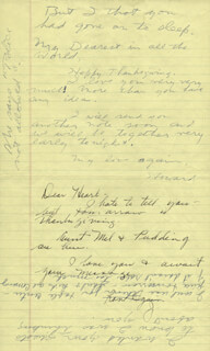 HOWARD HUGHES - AUTOGRAPH LETTER DOUBLE SIGNED CO-SIGNED BY: JEAN PETERS