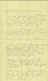 HOWARD HUGHES - AUTOGRAPH LETTER SIGNED