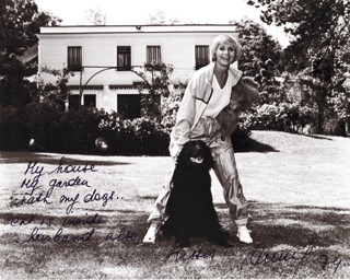 BARONESS ANNIE CORDY - AUTOGRAPH NOTE ON PHOTOGRAPH SIGNED 1984