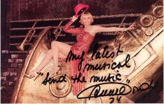 BARONESS ANNIE CORDY - AUTOGRAPHED SIGNED PHOTOGRAPH 1984