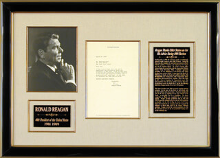 PRESIDENT RONALD REAGAN - TYPED LETTER SIGNED 03/24/1980