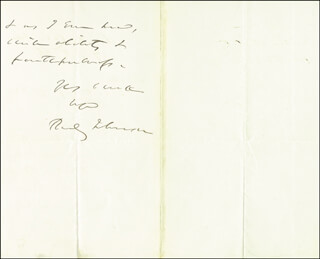 Autographs: REVERDY JOHNSON - AUTOGRAPH LETTER SIGNED 07/27/1866