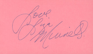 LIZA MINNELLI - AUTOGRAPH SENTIMENT SIGNED 11/18/1974
