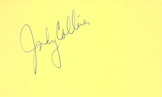 JUDY COLLINS - AUTOGRAPH 01/22/1975