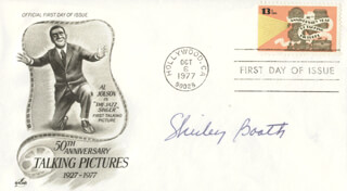 SHIRLEY BOOTH - FIRST DAY COVER SIGNED
