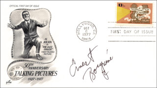 ERNEST BORGNINE - FIRST DAY COVER SIGNED
