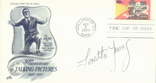LORETTA YOUNG - FIRST DAY COVER SIGNED