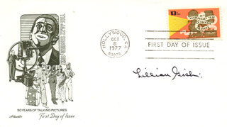 LILLIAN GISH - FIRST DAY COVER SIGNED