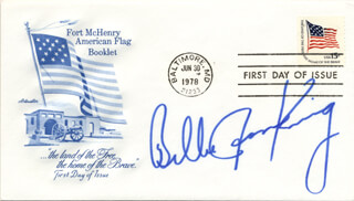 BILLIE JEAN KING - FIRST DAY COVER SIGNED