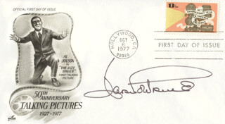 JOAN FONTAINE - FIRST DAY COVER SIGNED