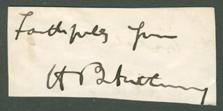 Autographs: HENRY B. ANTHONY - CLIPPED SIGNATURE