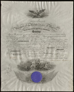 Autographs: PRESIDENT THEODORE ROOSEVELT - NAVAL APPOINTMENT SIGNED 08/08/1903 CO-SIGNED BY: CHARLES H. DARLING