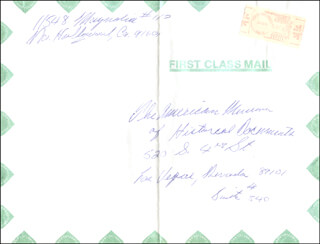 MARLAND PROCTOR - AUTOGRAPH ENVELOPE UNSIGNED 08/10/1984
