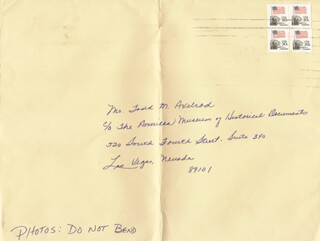 CYNDI JAMES-REESE - AUTOGRAPH ENVELOPE UNSIGNED