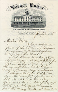 RICHARD J. GATLING - AUTOGRAPH LETTER SIGNED 08/06/1885