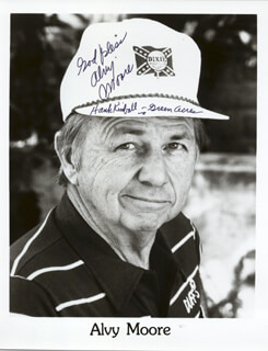 ALVY MOORE - AUTOGRAPHED SIGNED PHOTOGRAPH