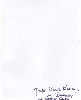 PETER MARK RICHMAN - AUTOGRAPHED SIGNED PHOTOGRAPH