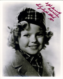 SHIRLEY TEMPLE - AUTOGRAPHED INSCRIBED PHOTOGRAPH 1982