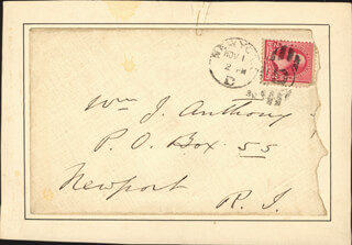 EDWIN BOOTH - AUTOGRAPH ENVELOPE UNSIGNED 11/01/1890