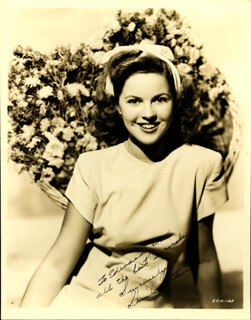 SHIRLEY TEMPLE - AUTOGRAPHED INSCRIBED PHOTOGRAPH CIRCA 1947
