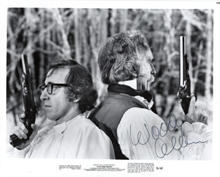 WOODY ALLEN - AUTOGRAPHED SIGNED PHOTOGRAPH CIRCA 1975
