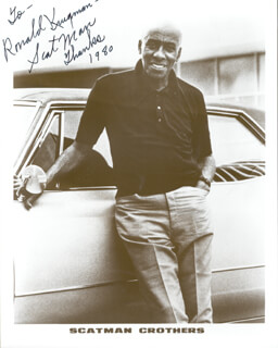 SCATMAN (BENJAMIN S.) CROTHERS - AUTOGRAPHED INSCRIBED PHOTOGRAPH 1980