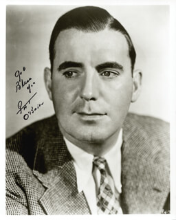 PAT O'BRIEN - AUTOGRAPHED SIGNED PHOTOGRAPH