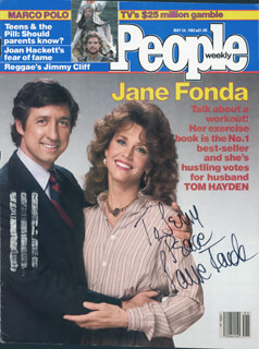JANE FONDA - INSCRIBED MAGAZINE COVER SIGNED