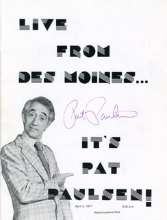Autographs: PAT PAULSEN - PROGRAM COVER SIGNED
