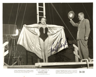 ANNE BAXTER - AUTOGRAPHED SIGNED PHOTOGRAPH CIRCA 1954