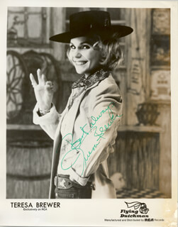 TERESA BREWER - AUTOGRAPHED SIGNED PHOTOGRAPH