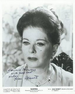 JOAN BENNETT - AUTOGRAPHED INSCRIBED PHOTOGRAPH CIRCA 1977