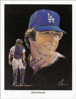 STEVE YEAGER - AUTOGRAPHED INSCRIBED PHOTOGRAPH