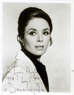 DANA WYNTER - AUTOGRAPHED INSCRIBED PHOTOGRAPH 1978