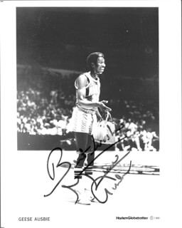 GEESE AUSBIE - AUTOGRAPHED SIGNED PHOTOGRAPH 1981