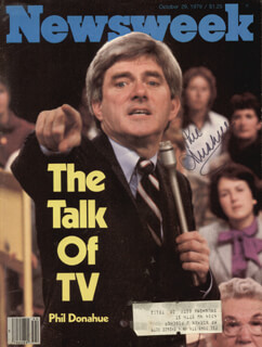 Autographs: PHIL DONAHUE - MAGAZINE COVER SIGNED
