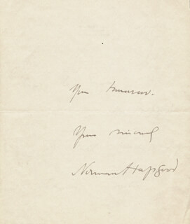 NORMAN HAPGOOD - AUTOGRAPH LETTER SIGNED 8/16