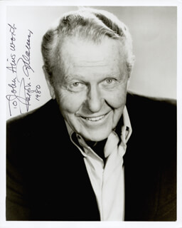 RALPH BELLAMY - AUTOGRAPHED INSCRIBED PHOTOGRAPH 1980