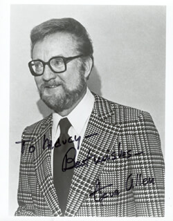 STEVE ALLEN - AUTOGRAPHED INSCRIBED PHOTOGRAPH