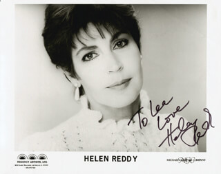 HELEN REDDY - AUTOGRAPHED INSCRIBED PHOTOGRAPH