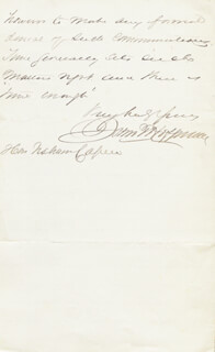 GOVERNOR JOHN THOMPSON HOFFMAN - AUTOGRAPH LETTER SIGNED 12/11/1871