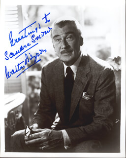 WALTER PIDGEON - AUTOGRAPHED SIGNED PHOTOGRAPH