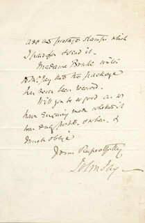 JOHN JAY II - AUTOGRAPH LETTER SIGNED 02/12/1876