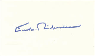 Autographs: ELLIOT L. RICHARDSON - SIGNATURE(S)