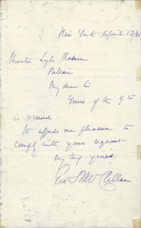 MAJOR GENERAL GEORGE B. MCCLELLAN - AUTOGRAPH LETTER SIGNED 04/13/1881