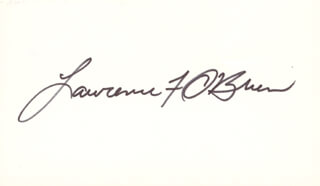 LAWRENCE LARRY O'BRIEN - AUTOGRAPH