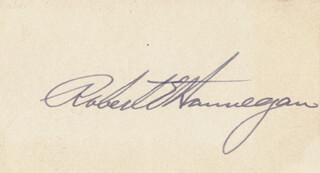 Autographs: ROBERT E. HANNEGAN - SIGNATURE(S)